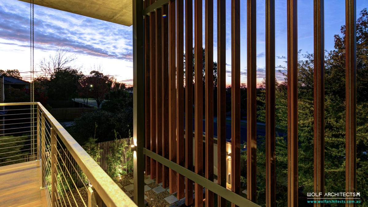 privacy timber batten screening