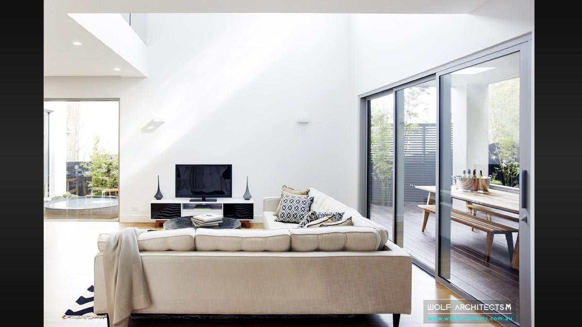 modern contemporary family room