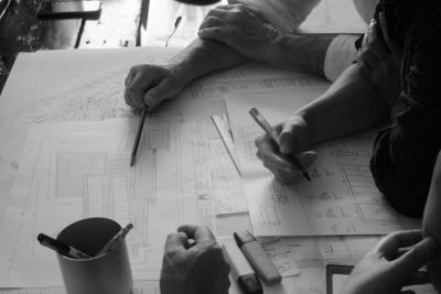 Revising architectural plans