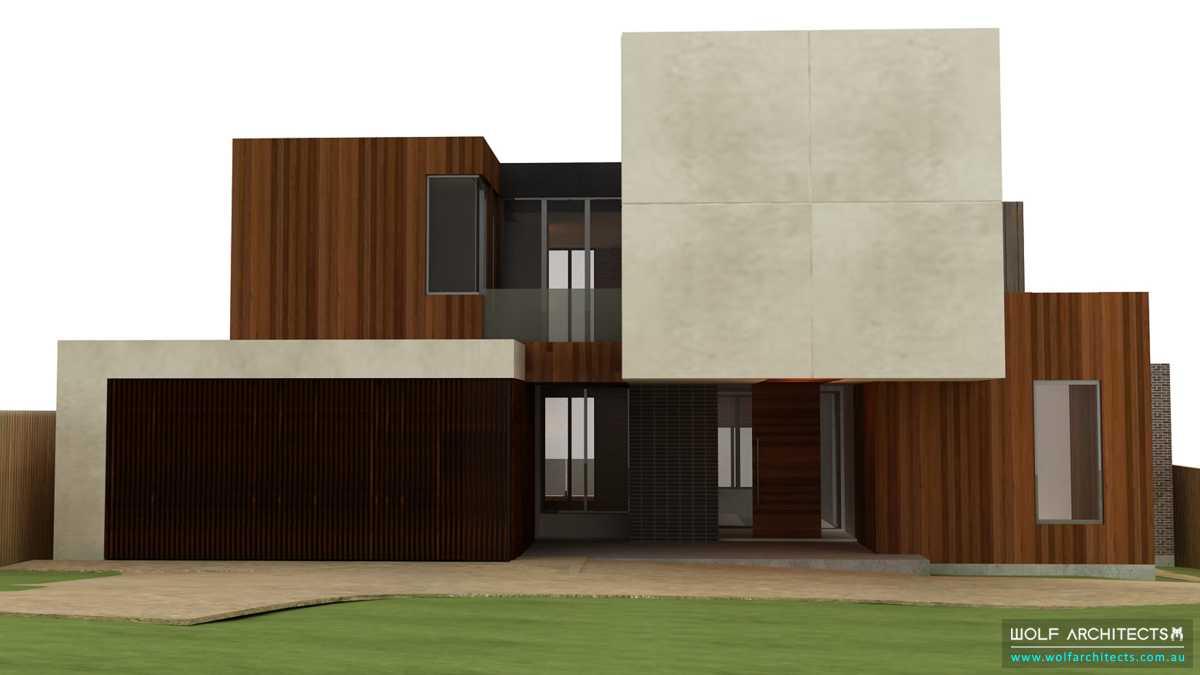 Floating block house