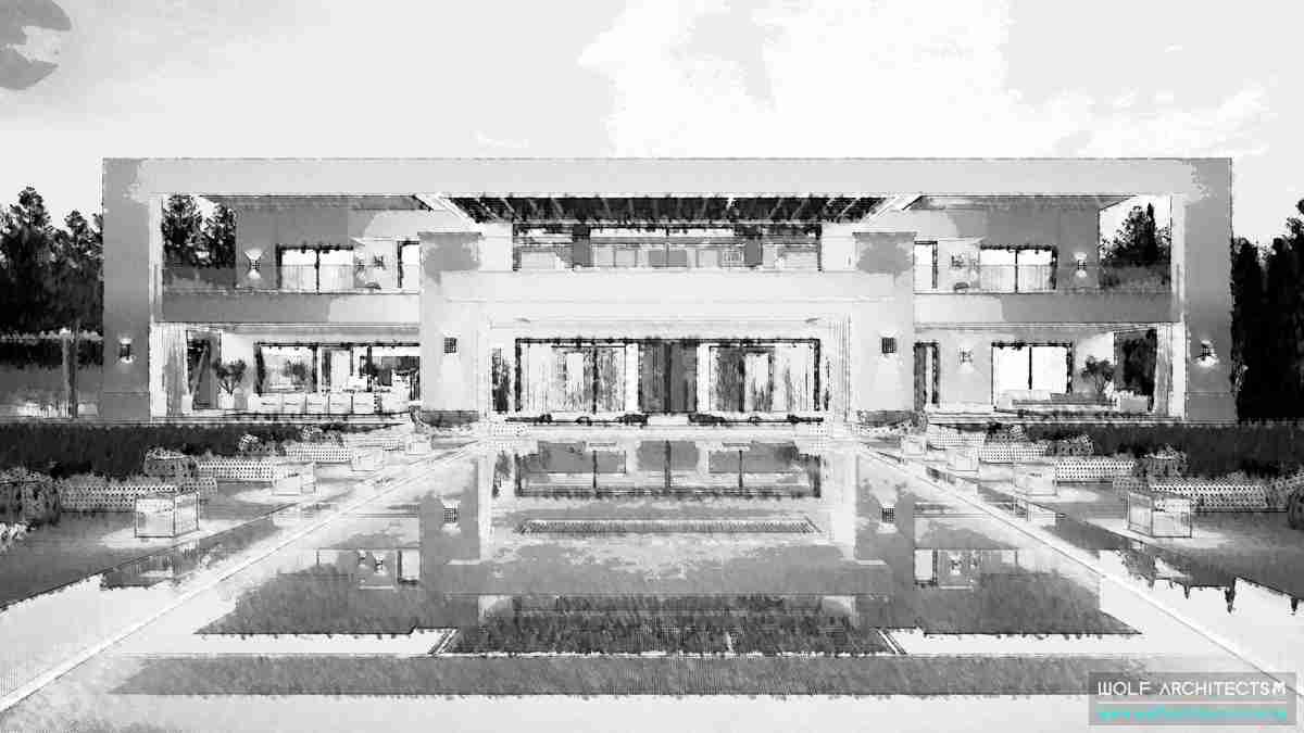 Modern Chinese mansion