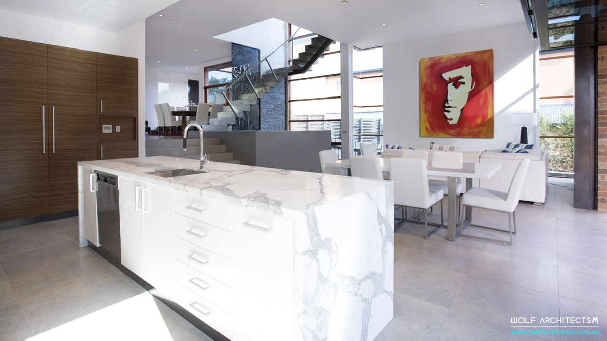 Modern open plan living and Kitchen space
