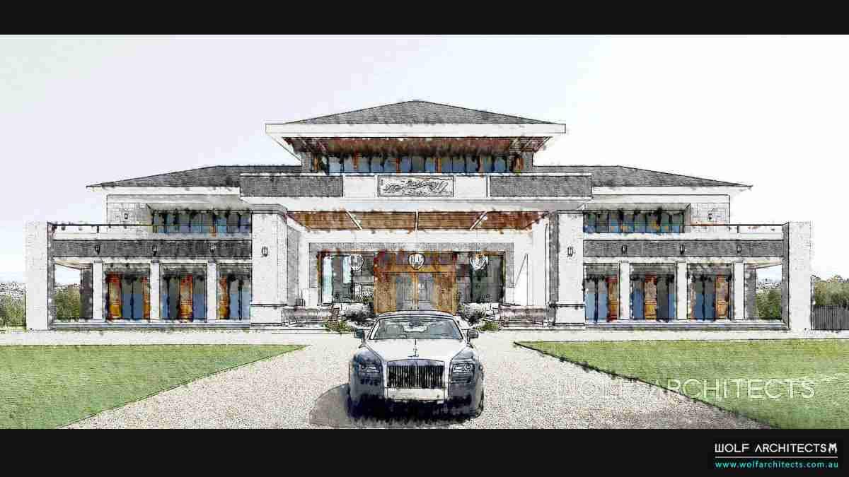 traditional fusion style Chinese mansion