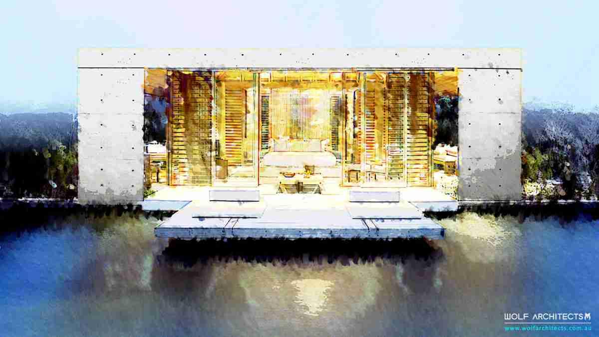 Japanese modern villa resort