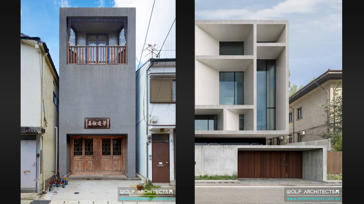 Modern Residential apartment and commercial 2 buildings