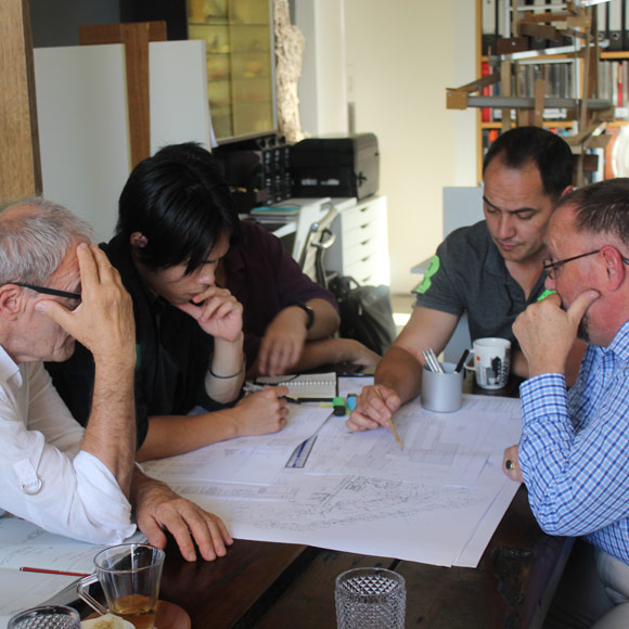 wolf architects meeting with client