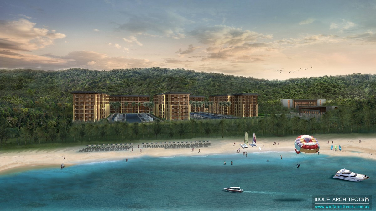 resort beach project