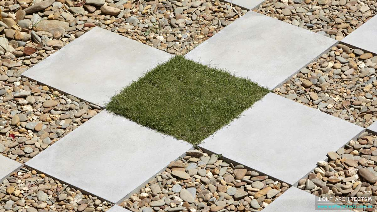 Wolf house grass pavers