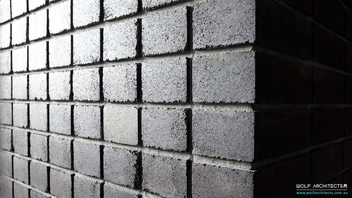 stacked angus brick work